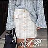 Короткая женская юбка из букле
