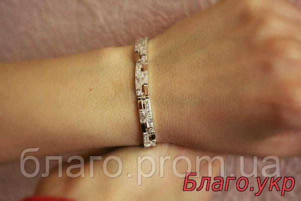 Браслет 81 серебряный с золотыми накладками женский