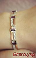 """Браслет """"Лиана"""" серебряный с золотыми накладками, фото 1"""