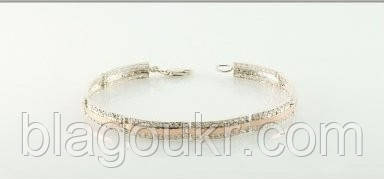 """Браслет """"Мира-1"""" серебряный с золотыми накладками женский"""
