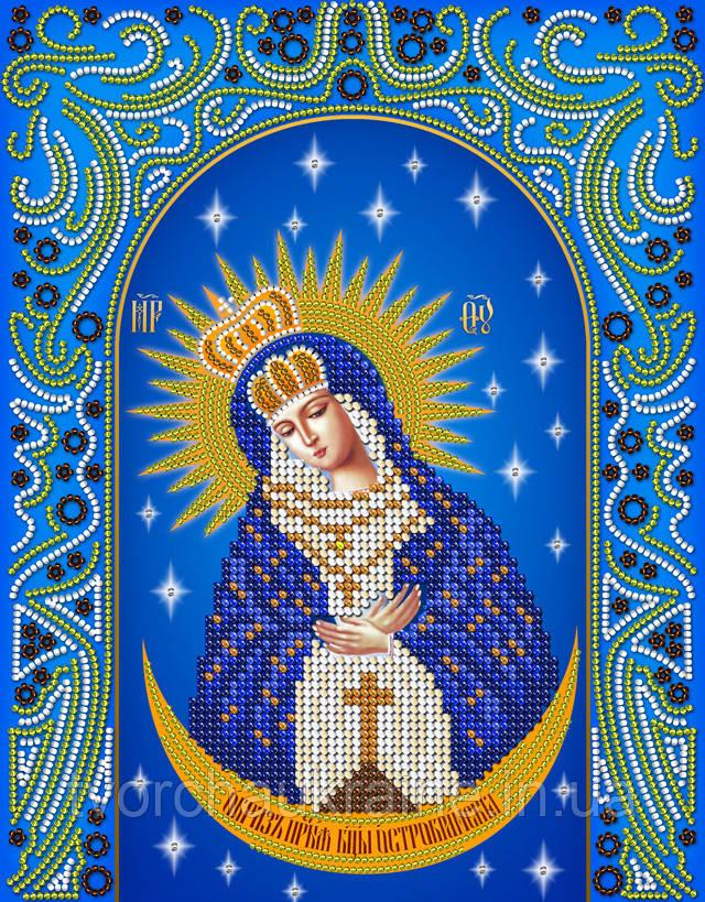 Схема на ткани для вышивания бисером Остробрамская икона Божией Матери. А-строчка