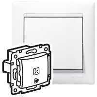 Выключатель без фиксации с подсветкой с символом звонка - Valena - 10 A - 12 В~ - белый