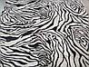 Микрофибровая простынь, покрывало Elway евро Зебра белая, фото 4