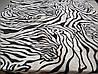 Микрофибровая простынь, покрывало Elway евро Зебра белая, фото 5