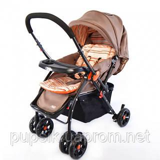 Коляска прогулочная Baby TILLY BT-WS-0004 BROWN с перекидной ручкой