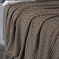 Покривало 220x240 BETIRES HARRISON BROWN (50% бавовна, 50% акрил), фото 2