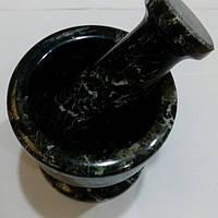 Ступка с пестиком из черного оникса, 7,5*7,5 см