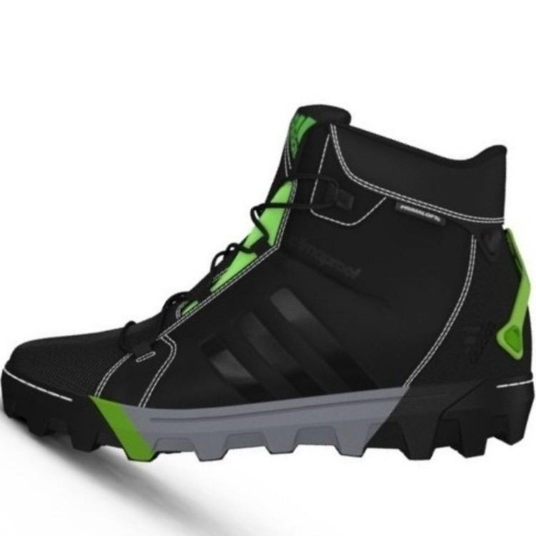 128e8303 Ботинки мужские adidas Slopecruiser G97338 (черные, зимние, туристические,  водонепроницаемые, бренд адидас