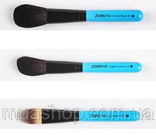 Натуральные кисти Z'OREYA 12 шт в чехле (Голубой), фото 3