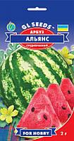 Арбуз Альянс сочный сладкий среднеспелый засухоустойчивый мякоть темно-розового цвета, упаковка 2 г