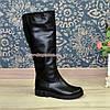 """Сапоги кожаные женские   на утолщенной подошве, черный цвет. ТМ """"Maestro"""", фото 5"""