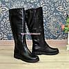 """Сапоги кожаные женские   на утолщенной подошве, черный цвет. ТМ """"Maestro"""", фото 6"""