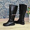 """Сапоги кожаные женские   на утолщенной подошве, черный цвет. ТМ """"Maestro"""", фото 7"""