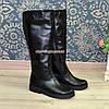"""Сапоги кожаные женские   на утолщенной подошве, черный цвет. ТМ """"Maestro"""", фото 8"""