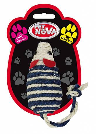 Игрушка для кошек Мышь плетённая Pet Nova 10х5 см