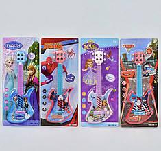 """Детская гитара, 4 вида: """"Frozen"""", """"Spider-Man"""", """"София Прекрасная"""", """"Тачки"""""""