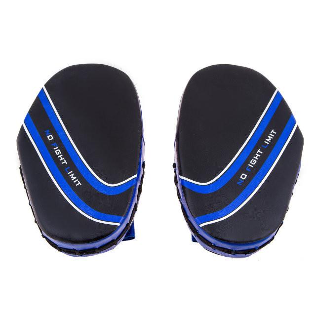 Лапы боксерские малые Nofightlimit PVC сине -чорная BFL-1 ( пара )