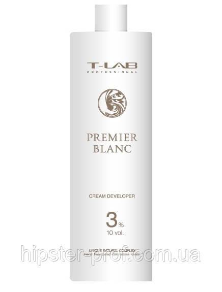 Крем-проявник T-Lab Professional Premier Blanc Cream Developer 3% 1000 ml