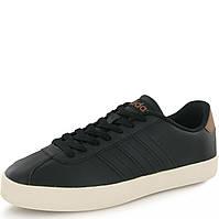 Кроссовки-кеды мужские adidas VLCourt Vulc AW3929 (черные, повседневные, закрытые, кожаные, бренд адидас)