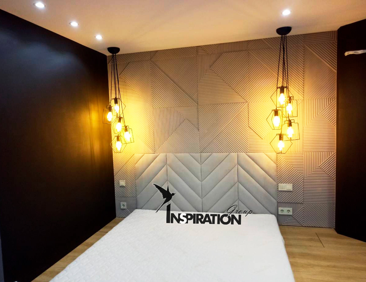Мягкие стеновые панели в спальню