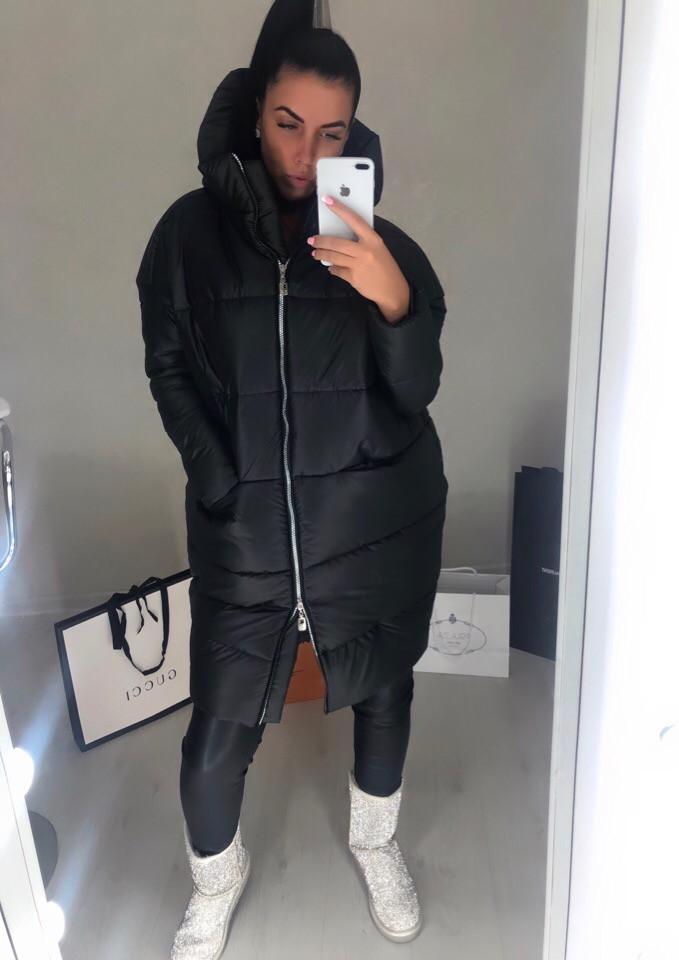 Женская стильная дутая куртка на молнии, фото 1