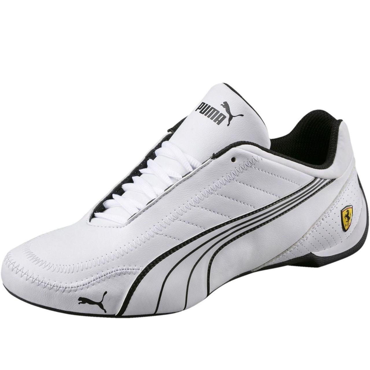 6504633c Кроссовки мужские Puma SF Ferrari Future Cat 306170 03 (белые,  повседневные, синтетика,