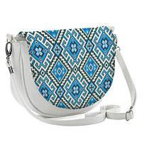 Женская сумка Beauty Синие узоры 23х16х5 см (BT_UKR004_WH)