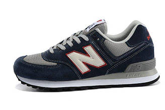 Мужские кроссовки New Balance ML574VEC Нью Баланс ML574VEC  синие оригинал
