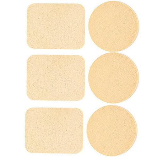 Набор косметических спонжей 3 круга + 3 прямоугольника QS-123