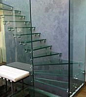 Лестница стеклянная, фото 1