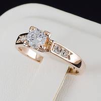 Умопомрачительное кольцо с кристаллами Swarovski, покрытое золотом 0183