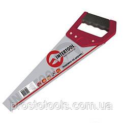 Ножовка по дереву с каленым зубом 450 мм ,55 HRC Intertool  HT-3102