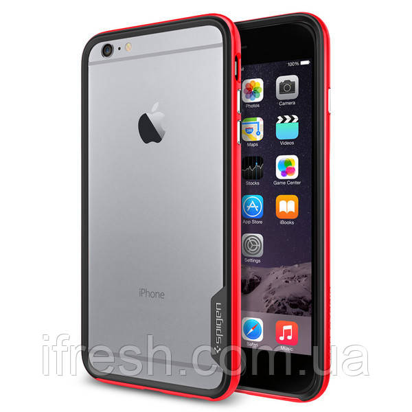 Бампер Spigen для iPhone 6S Plus/6 Plus Neo Hybrid EX, Dante Red