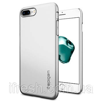 Чехол Spigen для iPhone 8 Plus / 7 Plus Thin Fit, Satin Silver