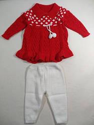 Детский костюм  Вязка Платье и лосины 68