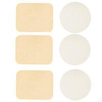 Набор спонжей для макияжа 3 круга и 3 прямоугольника (6 шт) QS-125