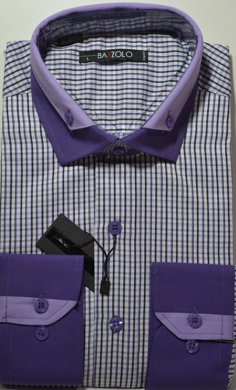 Рубашка приталенная BAZZOLO (размеры M.L.XL)