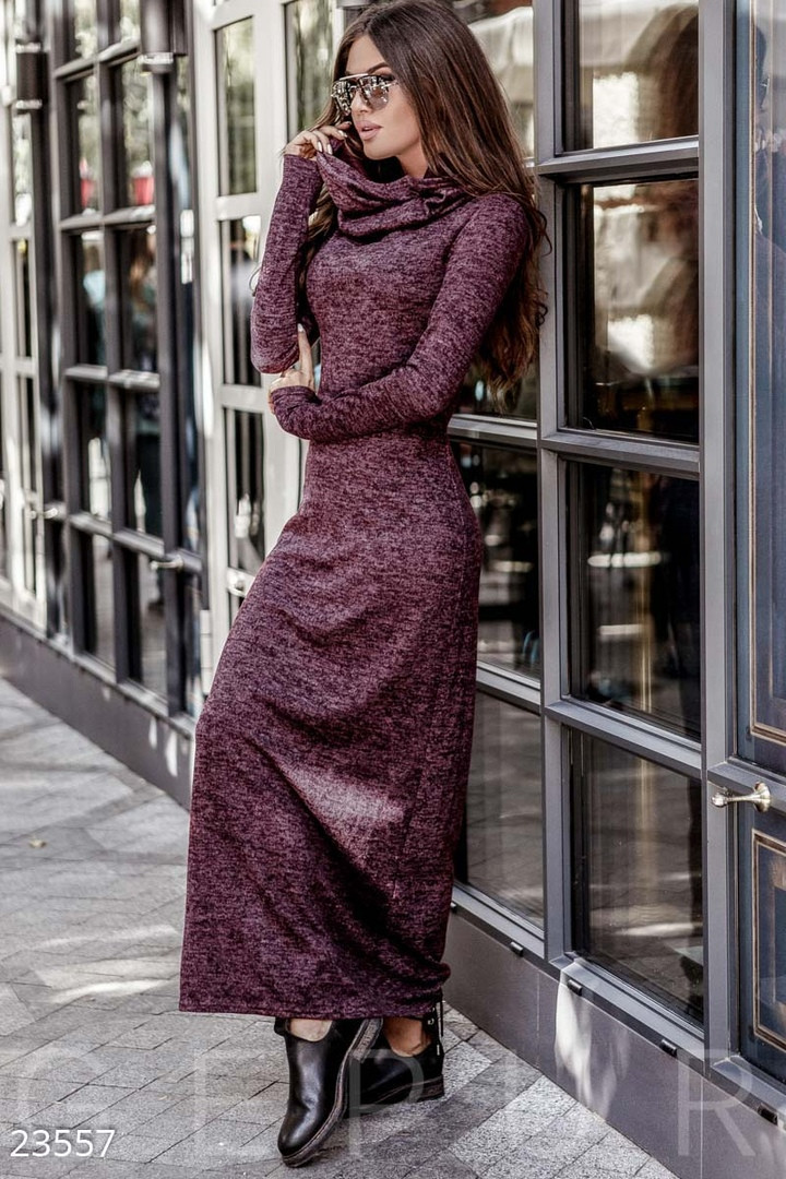 2c17bc811b5 Купить Ангоровое платье в пол с воротником хомутом в Николаеве от ...