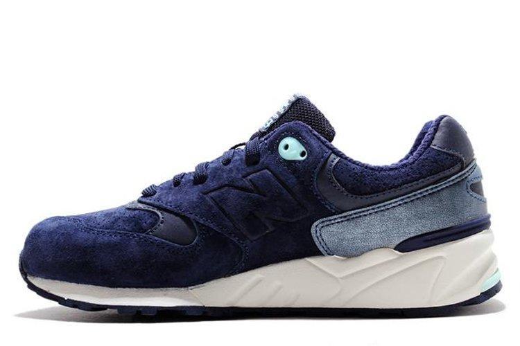 Оригинальные мужские кроссовки New Balance WL999GMT Navy & Aqua Нью Баланс WL999GMT синие