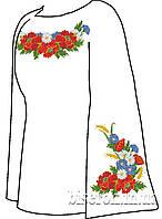 СВЖЧ-3. Заготовка для вишивки бісером Жіноча сорочка лляна чорна.
