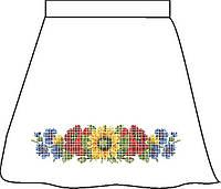 Заготовка для вишивки бісером Дитяча спідничка лляна сіра. Арт. СПДЛ-4