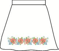 Заготовка для вишивки бісером Дитяча спідничка лляна сіра. Арт. СПДЛ-2