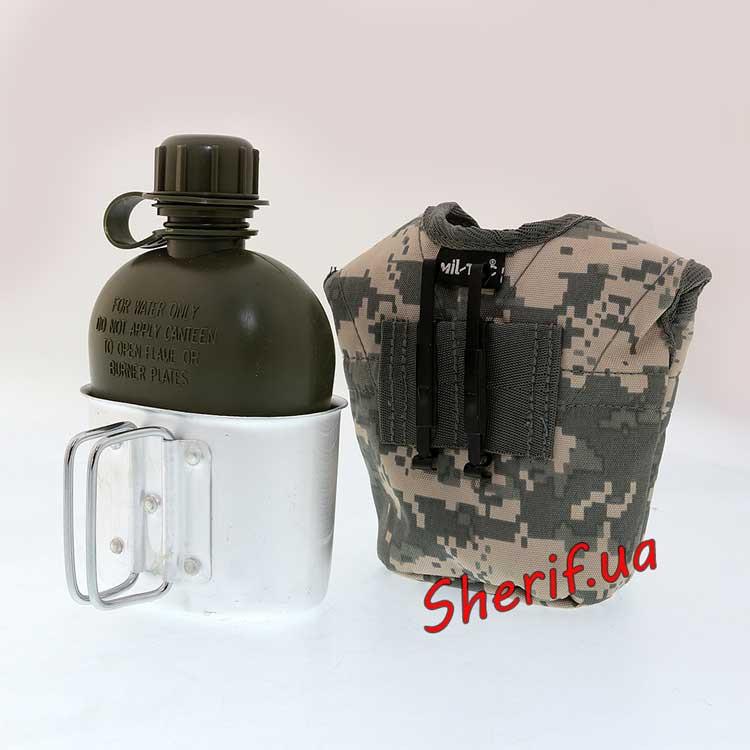 Фляга армейская MIL-TEC США с чехлом и кружкой AT-DIGITAL 14506070