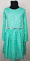 Нарядное детское  платье на девочку Тая р. 128-146 мята