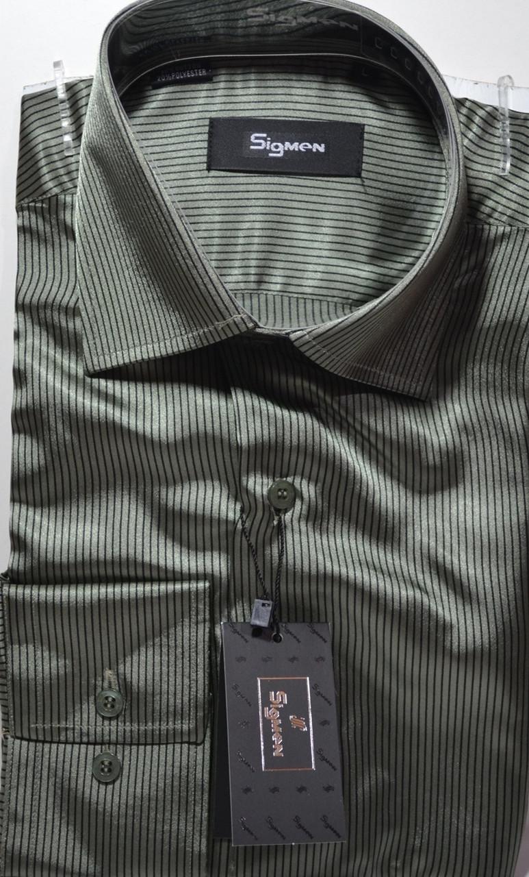 Рубашка приталенная SIGMAN (размеры S,M,L,XL)