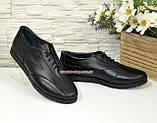 Кроссовки женские кожаные на шнуровке, фото 4