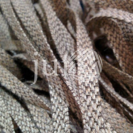 Декоративная лента (джутовая), 10 мм, V-узор., фото 2