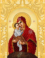 Схема на ткани для вышивания бисером Почаевская икона Божией Матери. А-строчка