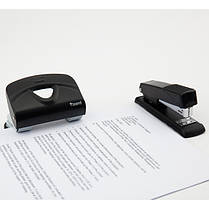 Дырокол Axent Exakt-2 3920-01-A металлический, 20 листов, черный, фото 3