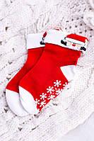 Кровати Детские Рождественские Носки Антискользящие С Дедом Морозом 2